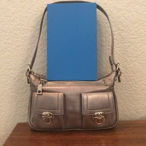 Silver Marc Jacobs evening bag